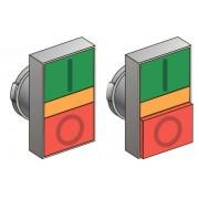 Головки кнопок управления с двойным толкателем, с функцией подсветки