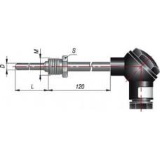 ДТПL035-0100.60.ЕХ-Т6.Термопреобразователь   для непрерывного измерения температуры различных рабочих сред (пар, газ, вода, сыпучие материалы, химические реагенты и т.п.), неагрессивных к материалу корпуса датчика.